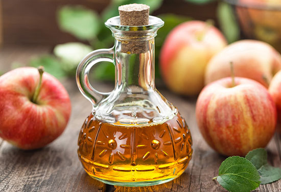 use Apple cider vinegar to reduce sweating